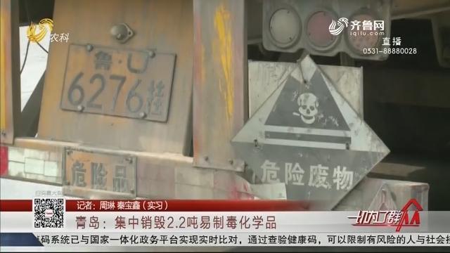 青岛:集中销毁2.2吨易制毒化学品