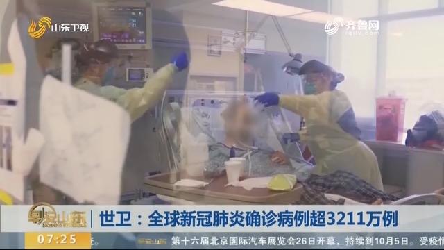 世卫:全球新冠肺炎确诊病例超3211万例