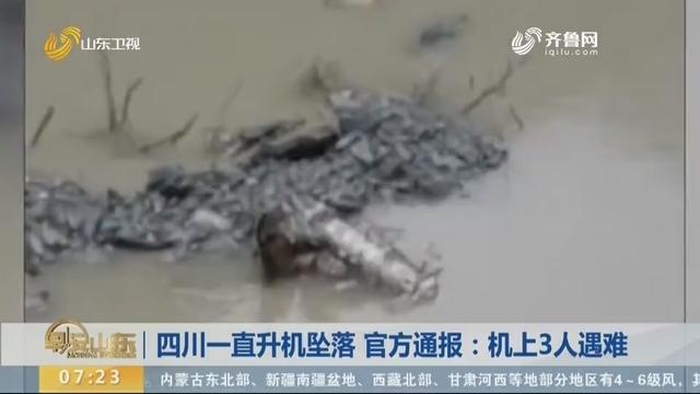 四川一直升机坠落 官方通报:机上3人遇难