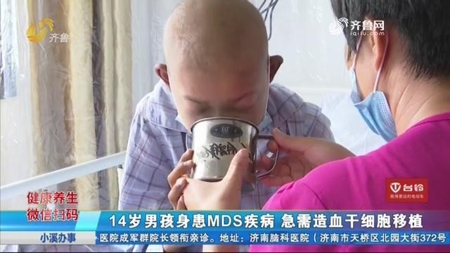 14岁男孩身患MDS疾病 急需造血干细胞移植