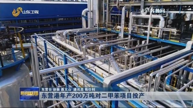 东营港年产200万吨对二甲苯项目投产