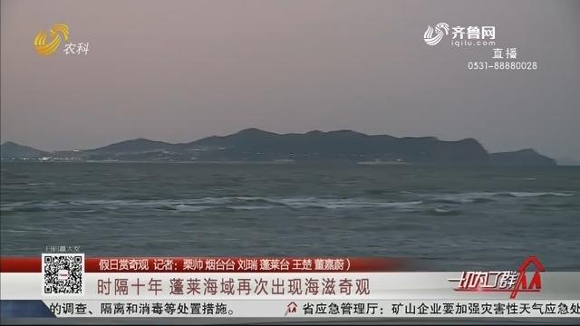 【假日赏奇观】时隔十年 蓬莱海域再次出现海滋奇观