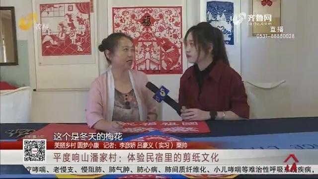 【美丽乡村 圆梦小康】平度响山潘家村:体验民宿里的剪纸文化
