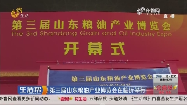 第三届山东粮油产业博览会在临沂举行