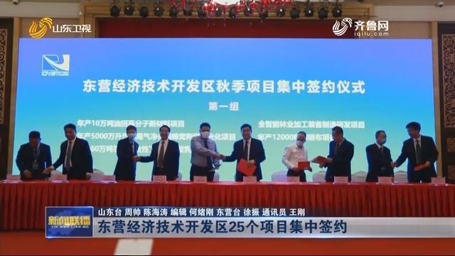 东营经济技术开发区25个项目集中签约