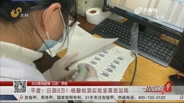 【关注青岛疫情】平度:日测8万!核酸检测实验室高效运转