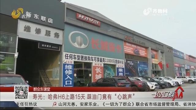 """【群众车课堂】寿光:哈弗H6上路15天 踩油门竟有""""心跳声"""""""