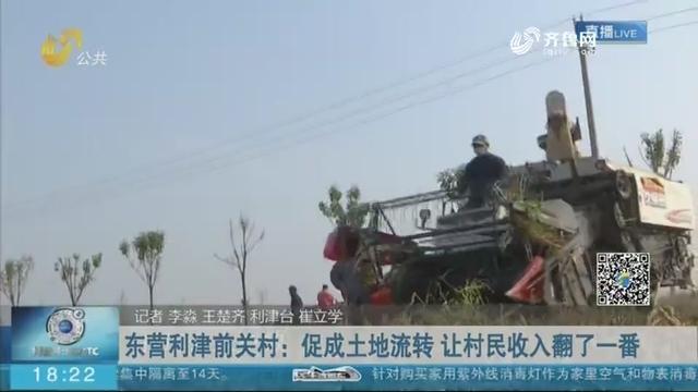 东营利津前关村:促成土地流转 让村民收入翻了一番