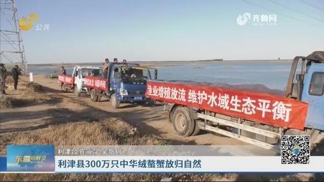 利津县300万只中华绒螯蟹放归自然