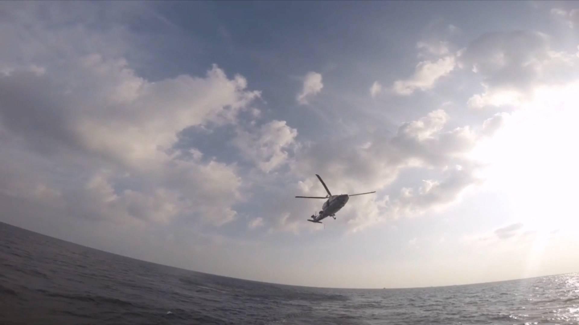 《应急在线》20201108:渔民海上突发病 直升机风浪中救人