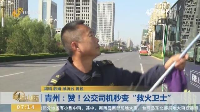 """青州:赞!公交司机秒变""""救火卫士"""""""