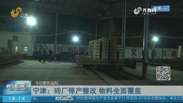 【今日聚焦追踪】宁津:砖厂停产整改 物料全面覆盖