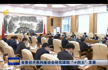 """省委召开系列座谈会研究谋划""""十四五""""发展"""