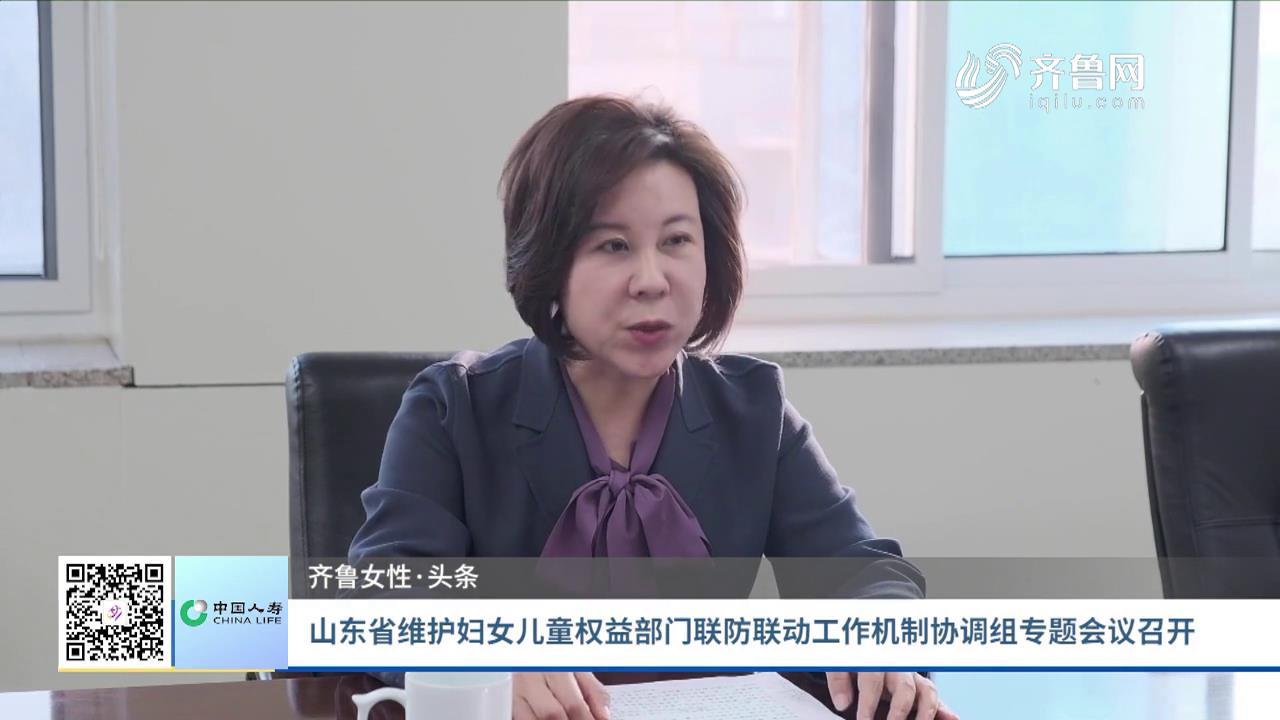 山东省维护妇女儿童权益部门联防联动工作机制协调组专题会议召开