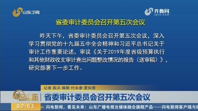 省委审计委员会召开第五次会议