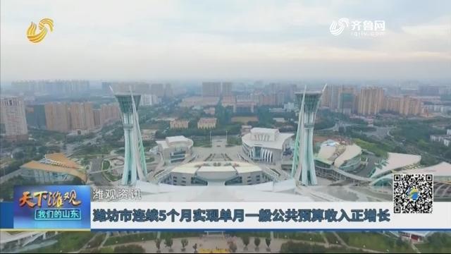 【潍观资讯】潍坊市连续5个月实现单月一般公共预算收入正增长