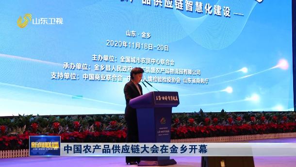 中国农产品供应链大会在金乡开幕