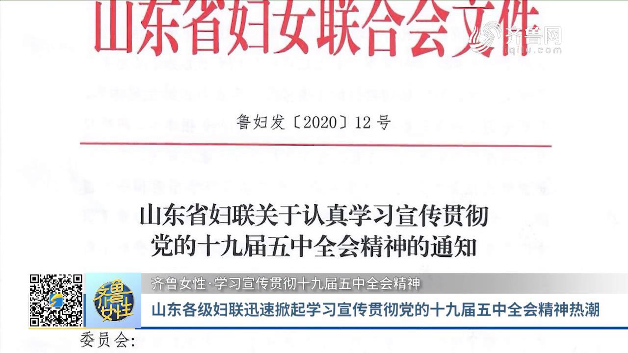 山东各级妇联迅速掀起学习宣传贯彻党的十九届五中全会精神热潮