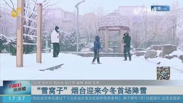 """""""雪窝子""""烟台迎来今冬首场降雪"""