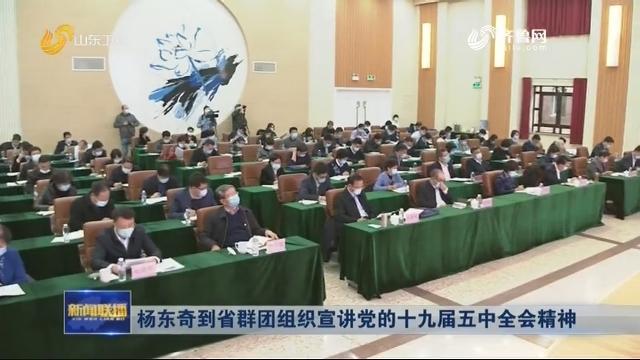 杨东奇到省群团组织宣讲党的十九届五中全会精神