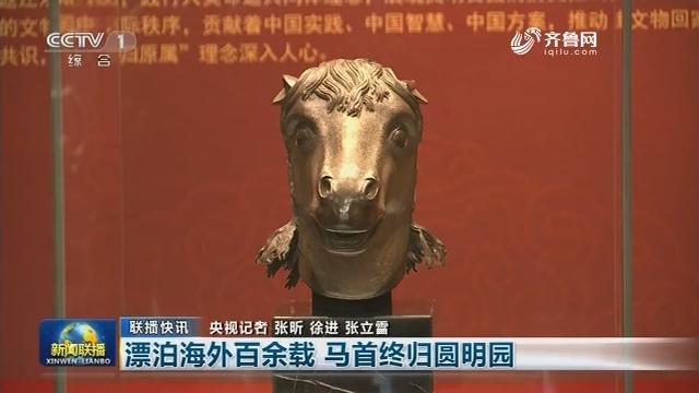 【联播快讯】漂泊海外百余载 马首终归圆明园
