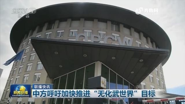 """【联播快讯】中方呼吁加快推进""""无化武世界""""目标"""