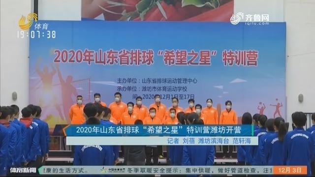 """2020年山东省排球""""希望之星""""特训营潍坊开营"""