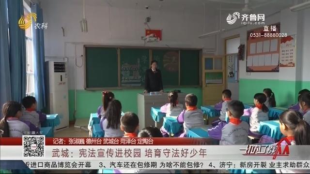 武城:宪法宣传进校园 培育守法好少年