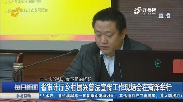 省审计厅乡村振兴普法宣传工作现场会在菏泽举行
