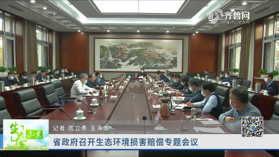 省政府召开生态环境损害赔偿专题会议