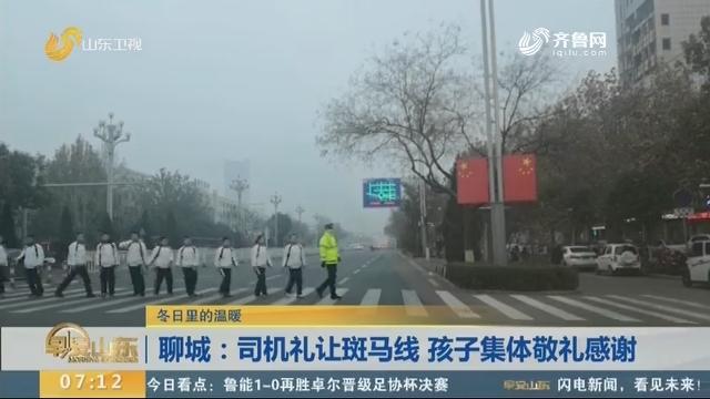 聊城:司机礼让斑马线 孩子集体敬礼感谢