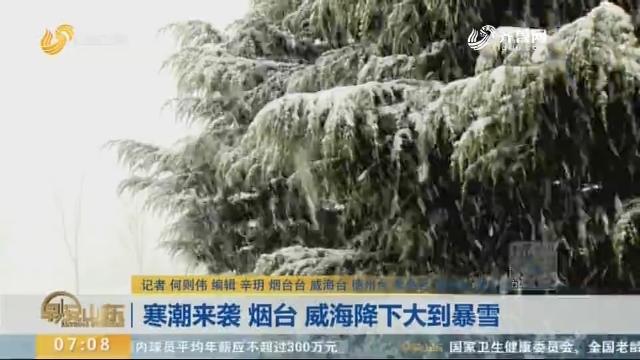 寒潮来袭 烟台 威海降下大到暴雪