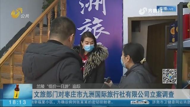 文旅部门对枣庄市九洲国际旅行社有限公司立案调查