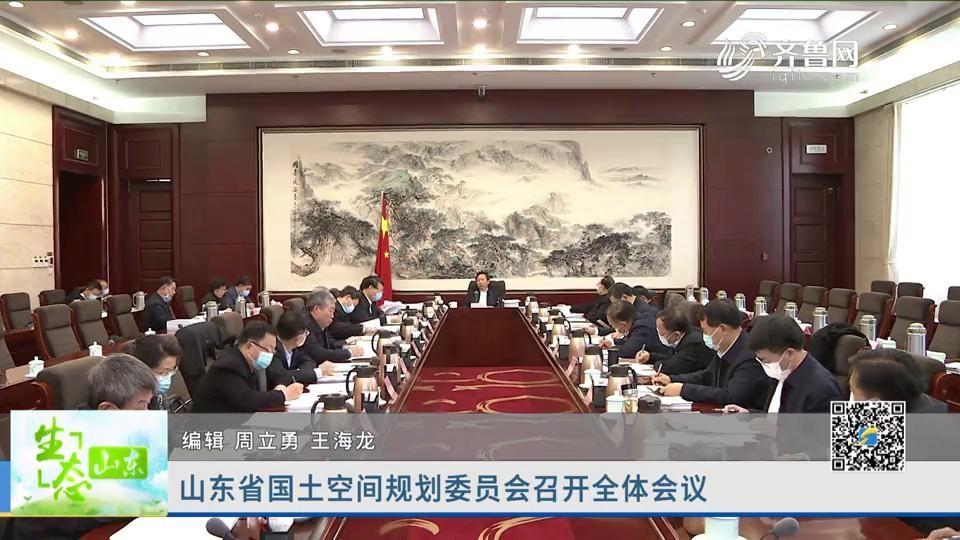 山东省国土空间规划委员会召开全体会议