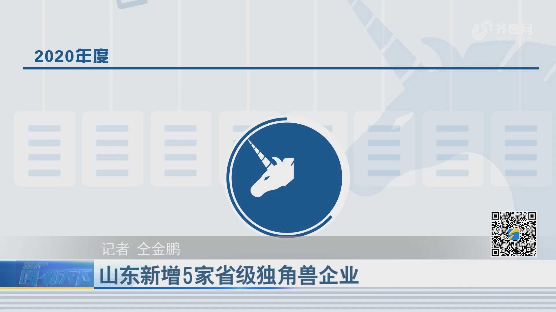 山东新增5家省级独角兽企业