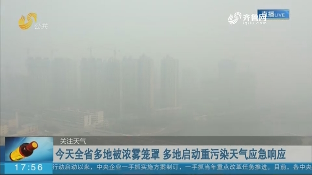 今天全省多地被浓雾笼罩 多地启动重污染天气应急响应