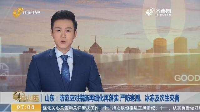 山东:防范应对措施再细化再落实 严防寒潮、冰冻及次生灾害