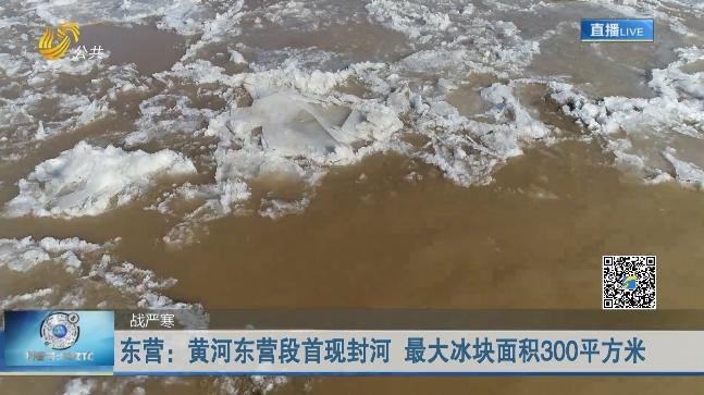 东营:黄河东营段首现封河 最大冰块面积300平方米