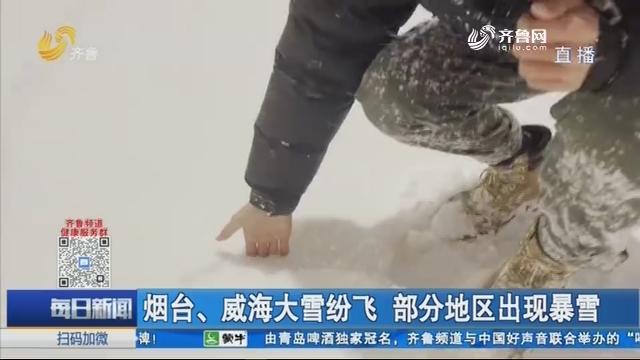 烟台、威海大雪纷飞 部分地区出现暴雪