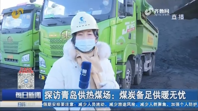 探访青岛供热煤场:煤炭备足供暖无忧