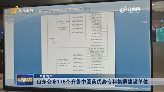 【新年开新局】山东公布176个齐鲁中医药优势专科集群建设单位