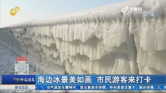 海边冰景美如画 市民游客来打卡
