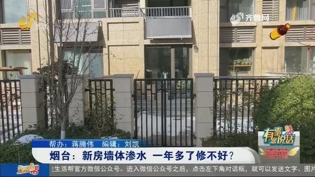 【有事您说话】烟台:新房墙体渗水 一年多了修不好?