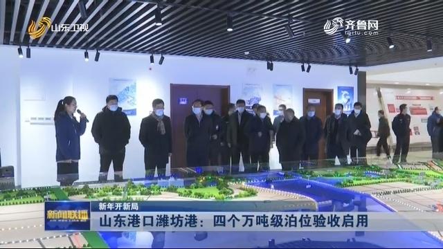【新年开新局】山东港口潍坊港:四个万吨级泊位验收启用