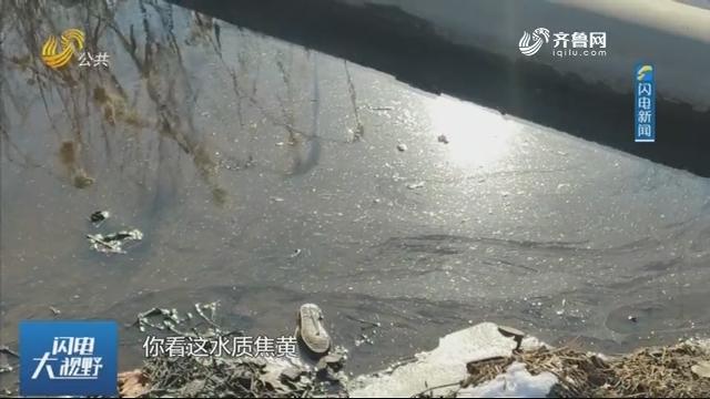 【直播问政 狠抓落实】枣庄:河道变红色 商户门前气味难闻