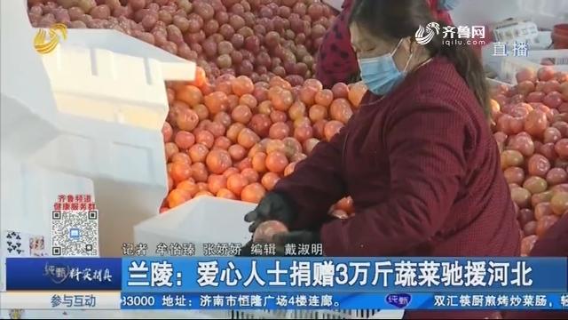 蘭陵:愛心人士捐贈3萬斤蔬菜馳援河北