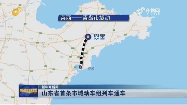 【新年开新局】山东省首条市域动车组列车通车
