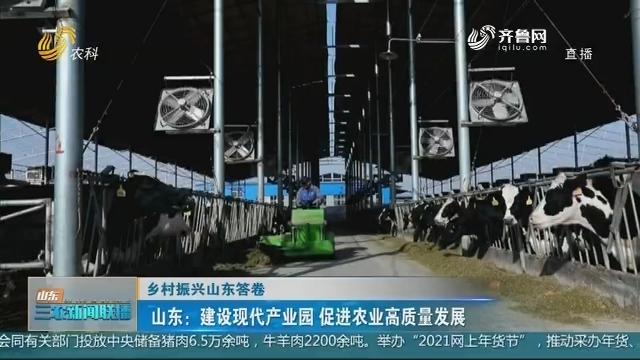 【乡村振兴山东答卷】山东:建设现代产业园 促进农业高质量发展