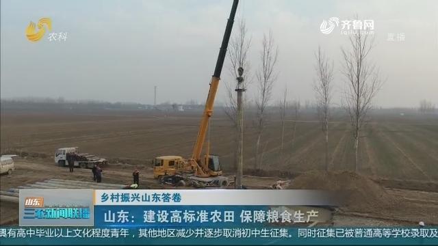 【乡村振兴山东答卷】山东:建设高标准农田 保障粮食生产