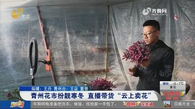 """青州花市扮靓寒冬 直播带货""""云上卖花"""""""